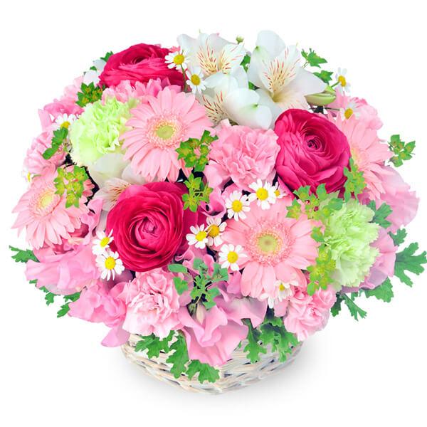 【結婚記念日】春の花のピンクアレンジメント