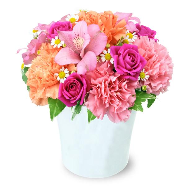 【4月の誕生花(アルストロメリア等)】アルストロメリアのピンクアレンジメント