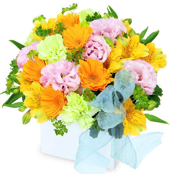 【4月の誕生花(アルストロメリア等)】アルストロメリアのキューブアレンジメント