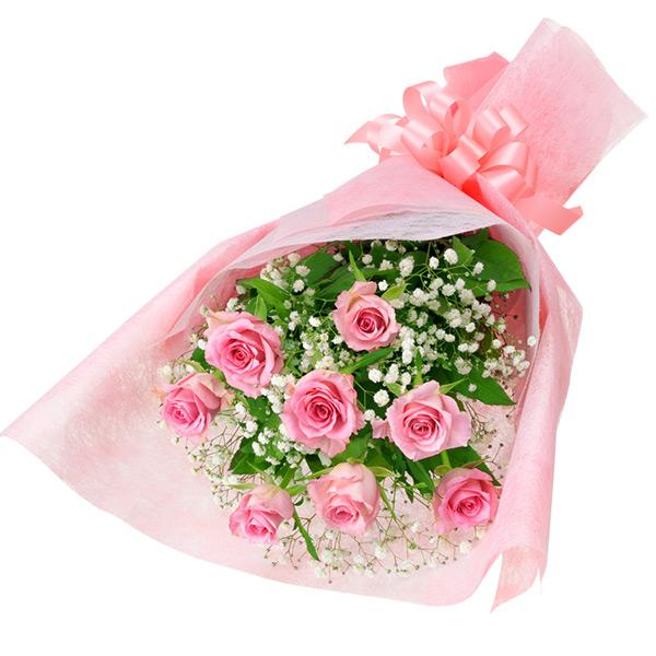 【結婚記念日】ピンクバラの花束