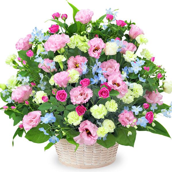 【お祝い】ピンクトルコキキョウの豪華なアレンジメント