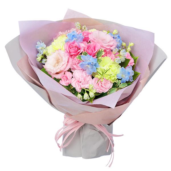 【夏の花贈り特集】ピンクトルコキキョウのパステルブーケ 512199 |花キューピットの夏の花贈り特集2020