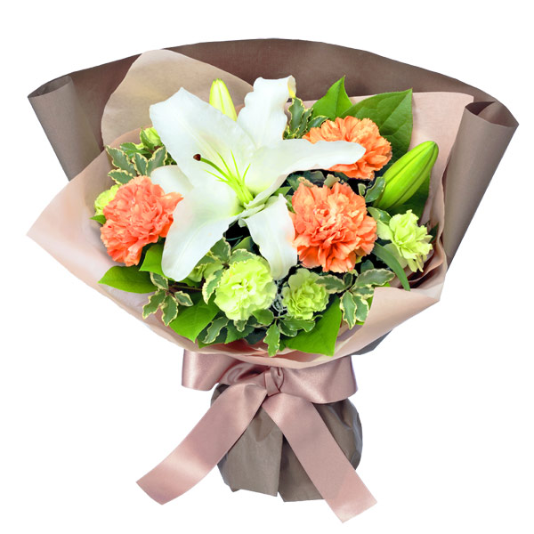 【秋の誕生日】白ユリのブーケ 512225 |花キューピットの秋の誕生日特集
