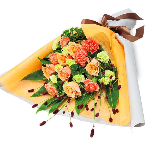 【敬老の日フラワー ランキング】オレンジバラのエレガントな花束