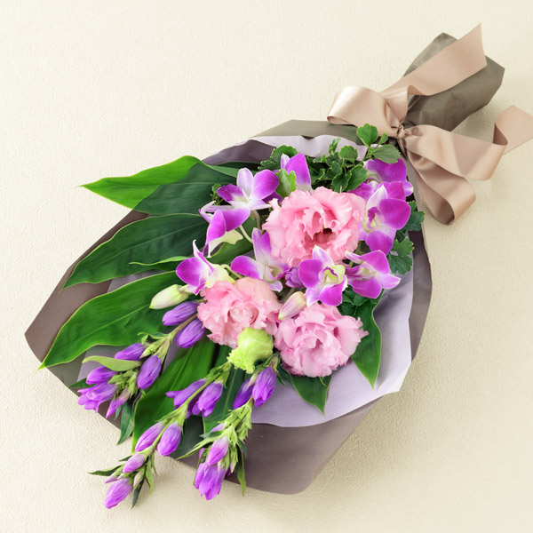 【敬老の日フラワー 遅れてごめんね】リンドウの花束