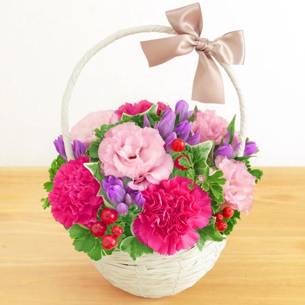 【敬老の日】リンドウのナチュラルバスケット 512257 |花キューピットの敬老の日プレゼント特集2020
