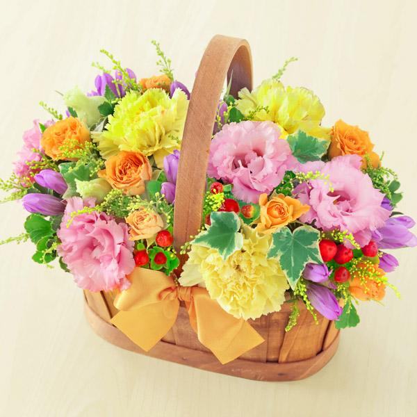 【敬老の日】リンドウのハーモニーバスケット 512259 |花キューピットの敬老の日プレゼント特集2020