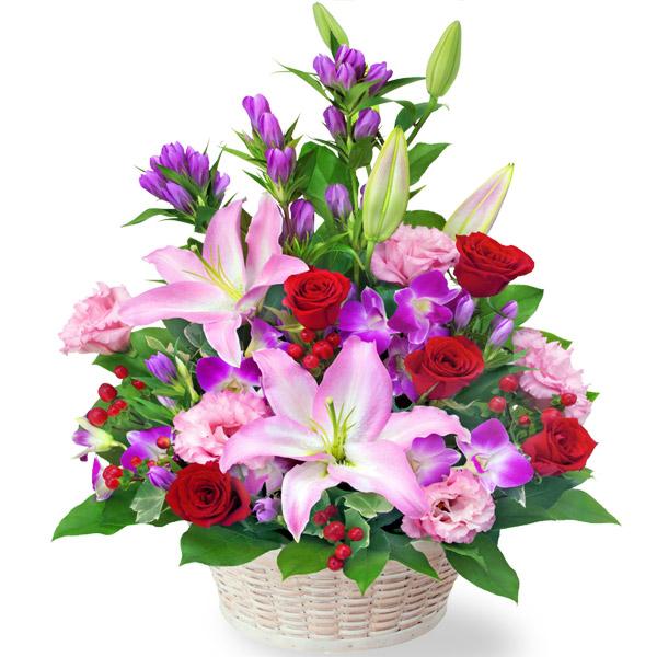 【敬老の日】ユリとリンドウの豪華なアレンジメント 512262 |花キューピットの敬老の日プレゼント特集2020