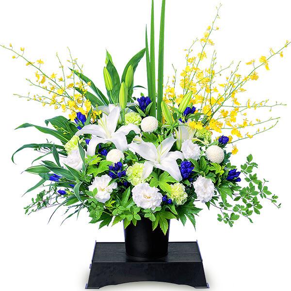【お供え・お悔やみの献花】お供えのアレンジメント(供花台付き)