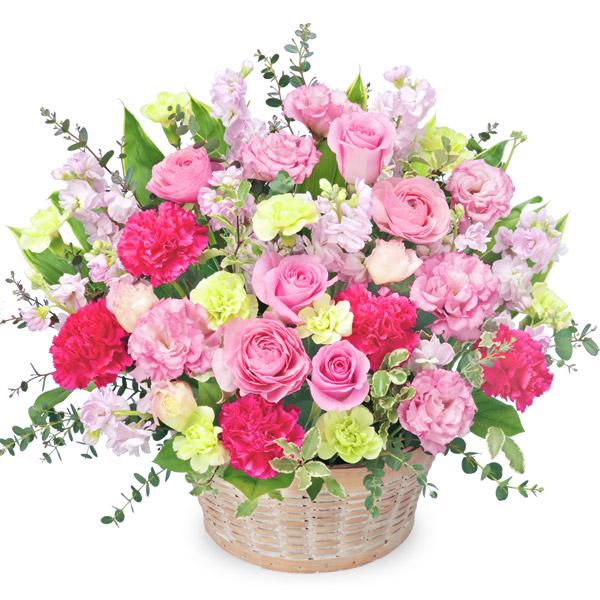 【愛妻の日】バラと春の花のピンクアレンジメント