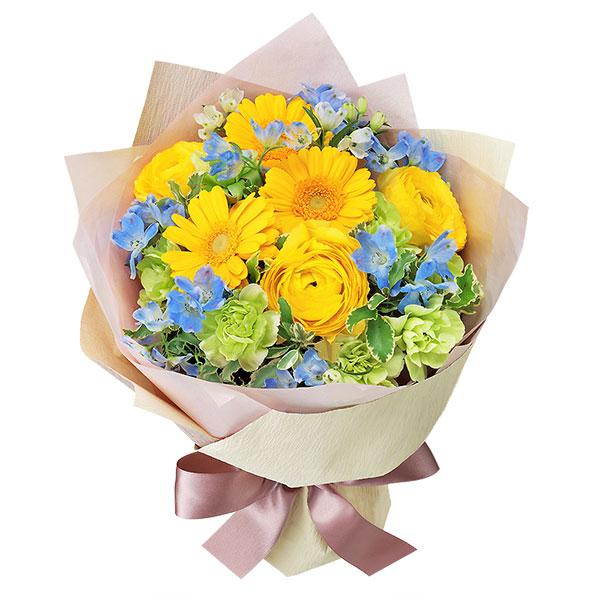 【ホワイトデー】イエロー&ブルーのブーケ 512314 |花キューピットのホワイトデー