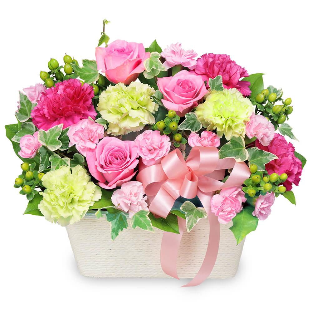 【愛妻の日】バラのピンクアレンジメント