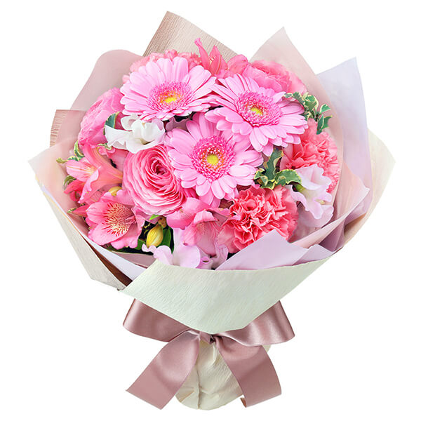 【3月の誕生花(ピンクガーベラ等)】ピンクのブーケ