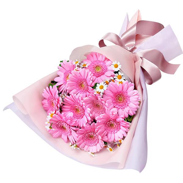 【誕生日フラワーギフト】ピンクガーベラの花束