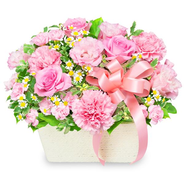【ホワイトデー】バラのピンクアレンジメント 512330 |花キューピットのホワイトデー