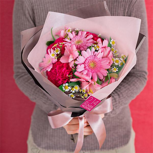 【フラワーバレンタイン】バレンタインデーのブーケ 512332 |花キューピットのフラワーバレンタイン特集
