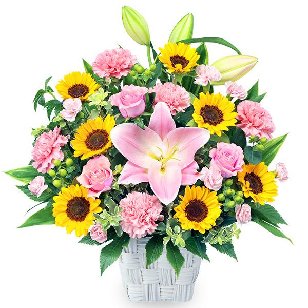 【ひまわり特集】ひまわりとユリの豪華なアレンジメント) 512343 |花キューピットのひまわり特集プレゼント特集2021