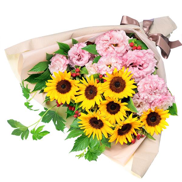 【ひまわり特集】ひまわりとトルコキキョウの花束) 512382 |花キューピットのひまわり特集プレゼント特集2021