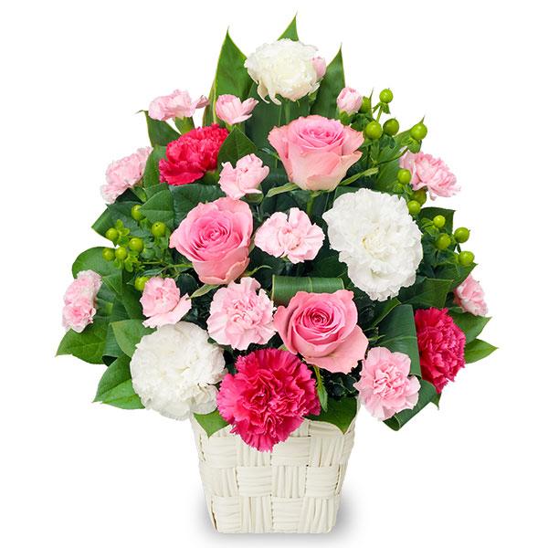 【開店祝い・開業祝い】ピンクバラとカーネーションのアレンジメント