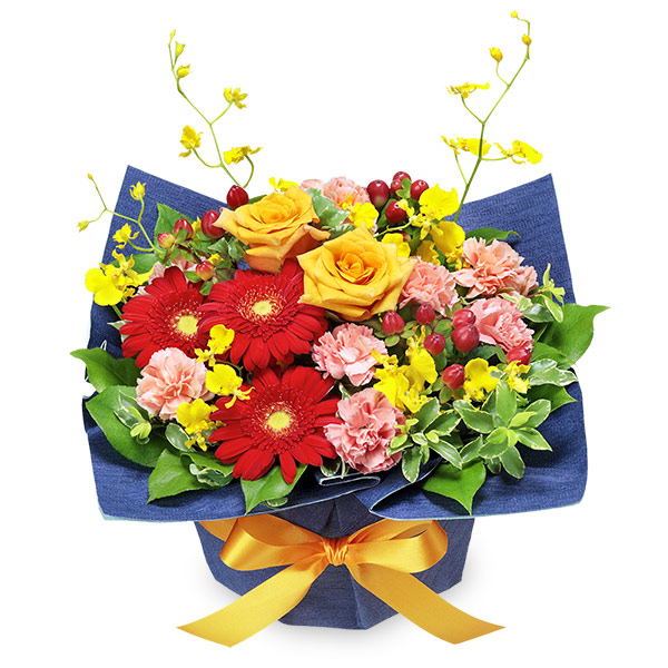 【10月の誕生花(オレンジバラ)】10月のバースデーアレンジメント