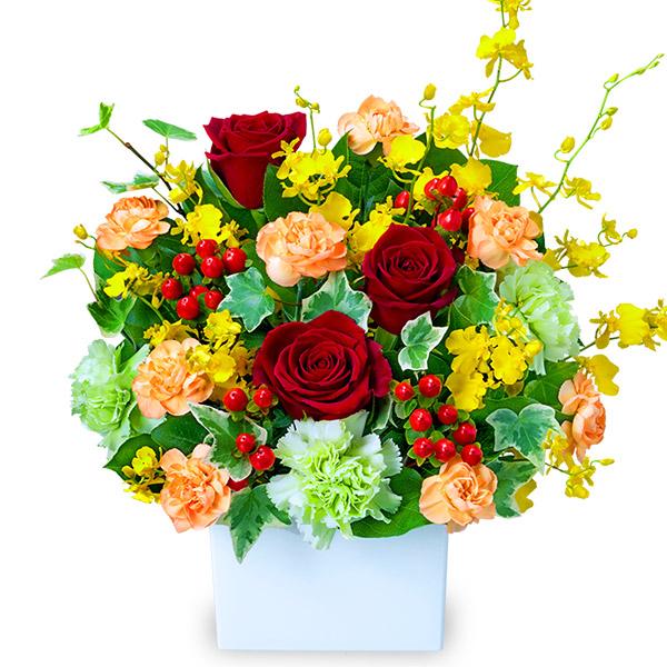 【誕生日フラワーギフト】赤バラの華やかアレンジメント
