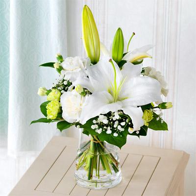 【お盆・新盆】お供えのグラスブーケ p521167 |花キューピットのお盆・新盆特集2020