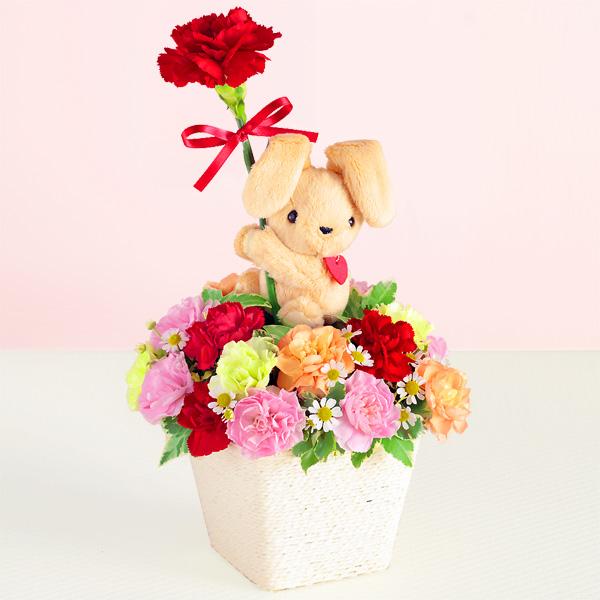 【母の日】ラブリーうさぎのアレンジメント 521233 |花キューピットの母の日プレゼント特集2020