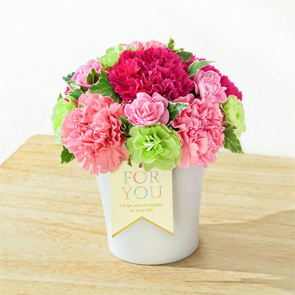 【母の日】グラマラス(ピンク) 521253 |花キューピットの母の日フラワーギフト特集2020