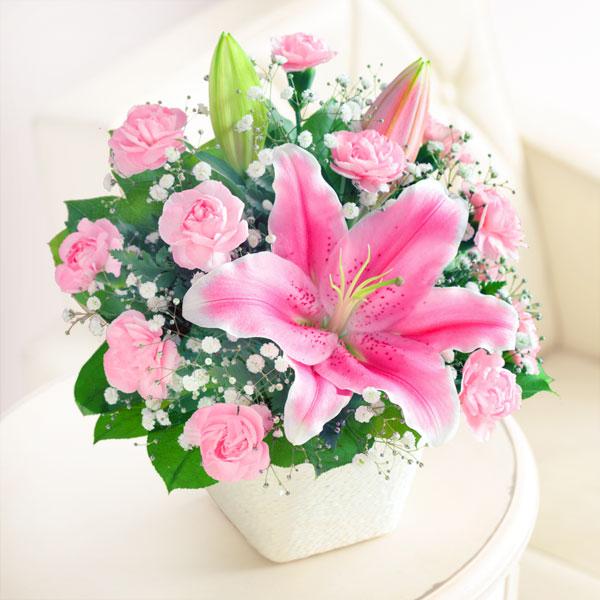 【母の日】ユリのバスケット 521255 |花キューピットの2019母の日プレゼント特集