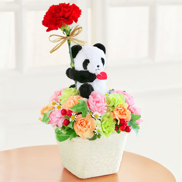 【母の日ギフト ランキング】パンダのアレンジメント