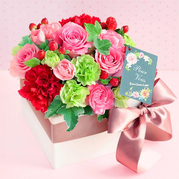 【母の日】ロマンチック(バラ) 521289 |花キューピットの2019母の日プレゼント特集