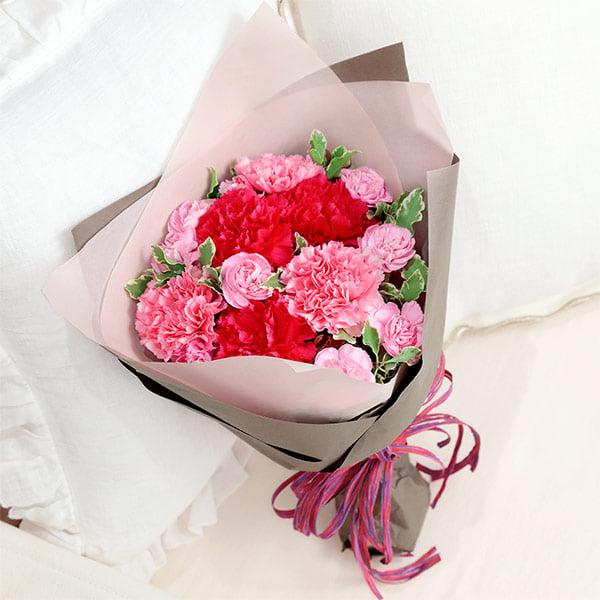 【母の日】ナチュラルブーケ(ピンク) 521292 |花キューピットの母の日プレゼント特集2020