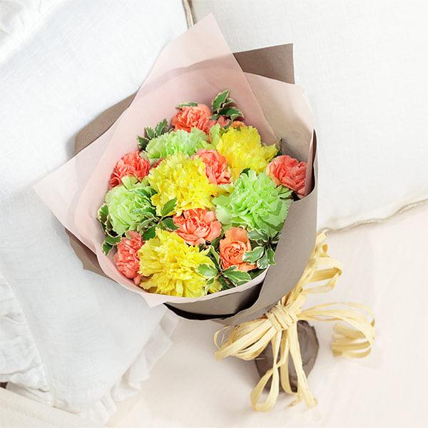 【母の日】ナチュラルブーケ(イエロー) 521293 |花キューピットの2019母の日プレゼント特集