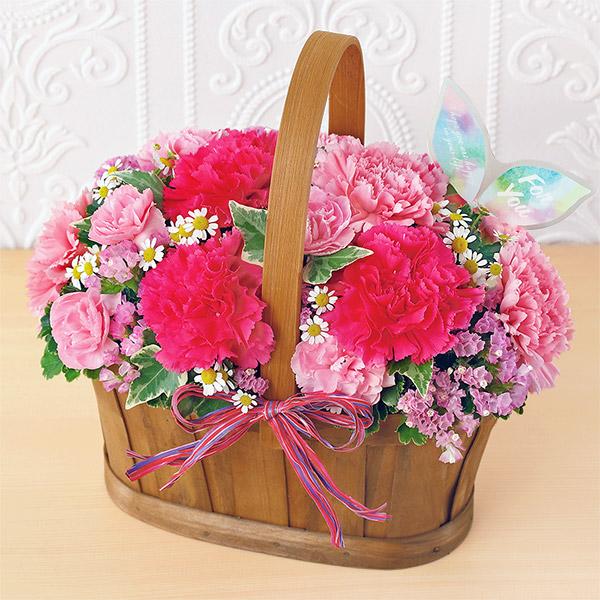 【母の日】ハッピー(ピンク) 521308 |花キューピットの母の日プレゼント特集2020