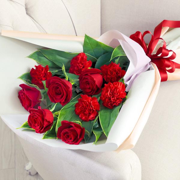 【母の日】赤バラとカーネーションの花束 521311 |花キューピットの母の日プレゼント特集2020