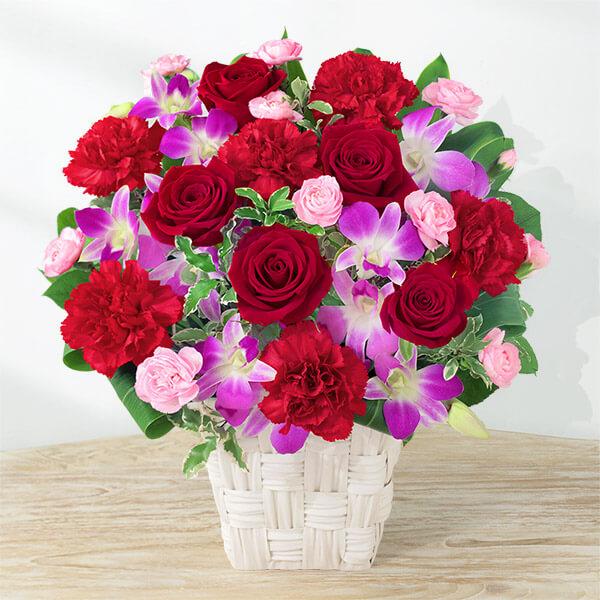 【母の日】幸せたっぷりアレンジメント) 521317 |花キューピットの母の日プレゼント特集2021