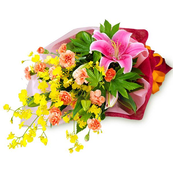 【6月の誕生花(ユリ等)】ユリとカーネーションの花束