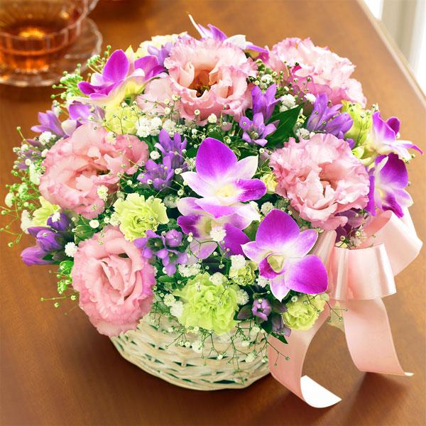【敬老の日】秋のピンクバスケット 522087 |花キューピットの2019敬老の日プレゼント特集