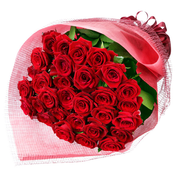 【お祝い(法人)】30本の赤バラの花束