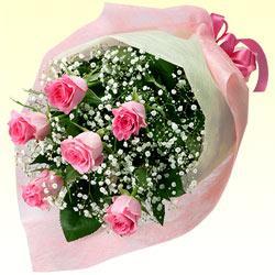 【お祝い】ピンクバラの花束
