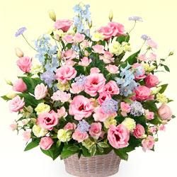 【誕生日フラワーギフト】ピンクトルコキキョウのアレンジメント