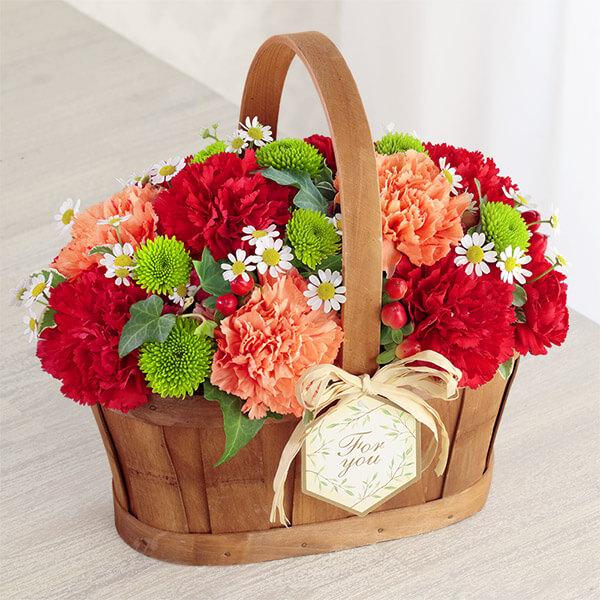 【母の日】ハッピー(レッド)) 613262 |花キューピットの母の日プレゼント特集2021