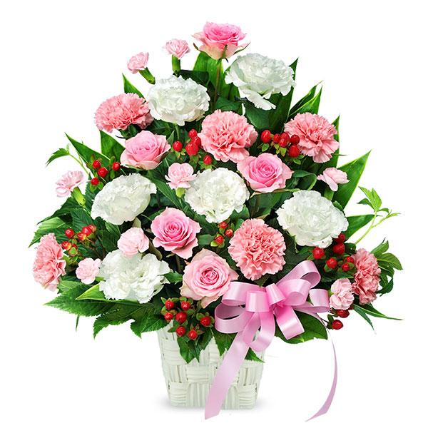 【開店祝い・開業祝い】ピンクとホワイトの華やかアレンジメント