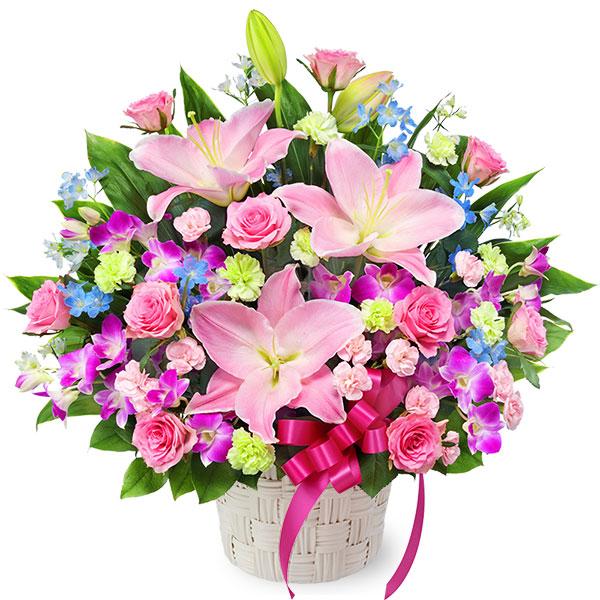 【開店祝い・開業祝い】ピンクの華やかアレンジメント