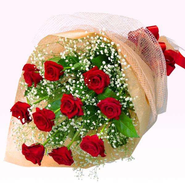 【秋のバラ特集】赤バラの花束 615027 |花キューピットの2019秋のバラ特集