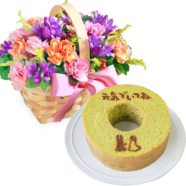 リンドウのウッドバスケットとうさぎの森のこもれびバウム 小野茶 a66522088 |花キューピットの2019敬老の日セットギフト特集