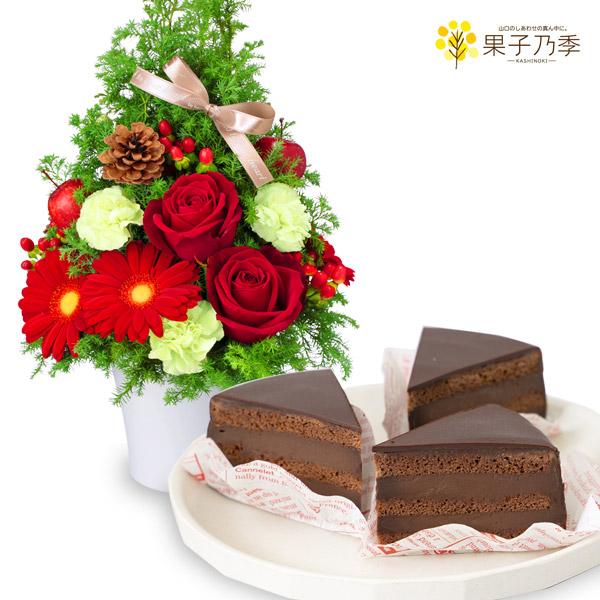 クリスマスのツリー風アレンジメントと魅惑のザッハトルテ a71512068 |a71512068