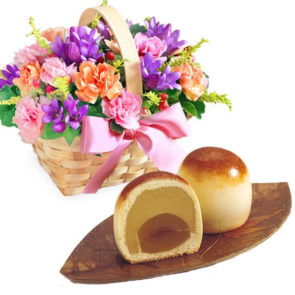 リンドウのウッドバスケットと栗ほまれ 6個入 a75522088 |花キューピットの2019敬老の日プレゼント特集