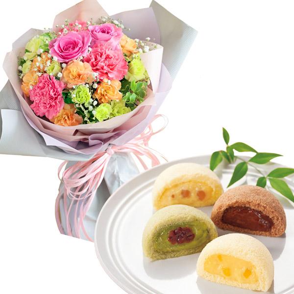 ティーブーケと月で【果子乃季】月でひろった卵 名月撰8個入 a76521295 |花キューピットの母の日 お花とセットの特集2020