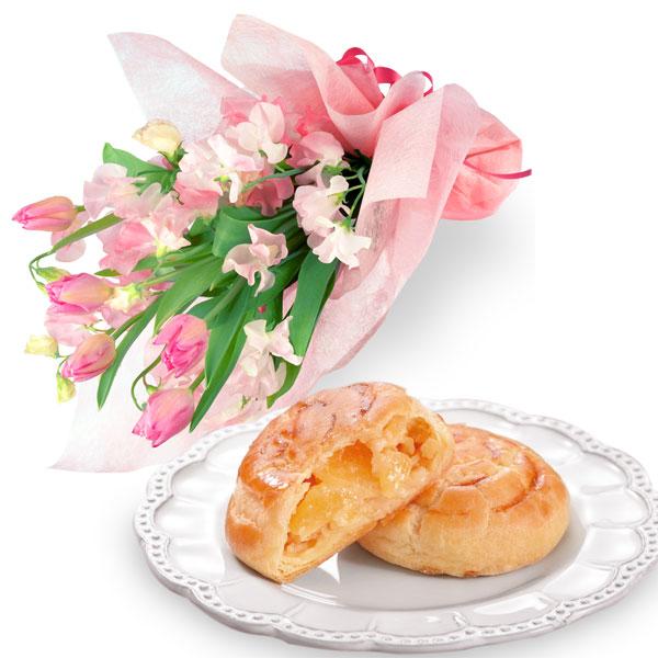 チューリップの花束とポム・ママン10個入 a78111014 |花キューピットの2020ホワイトデーセット